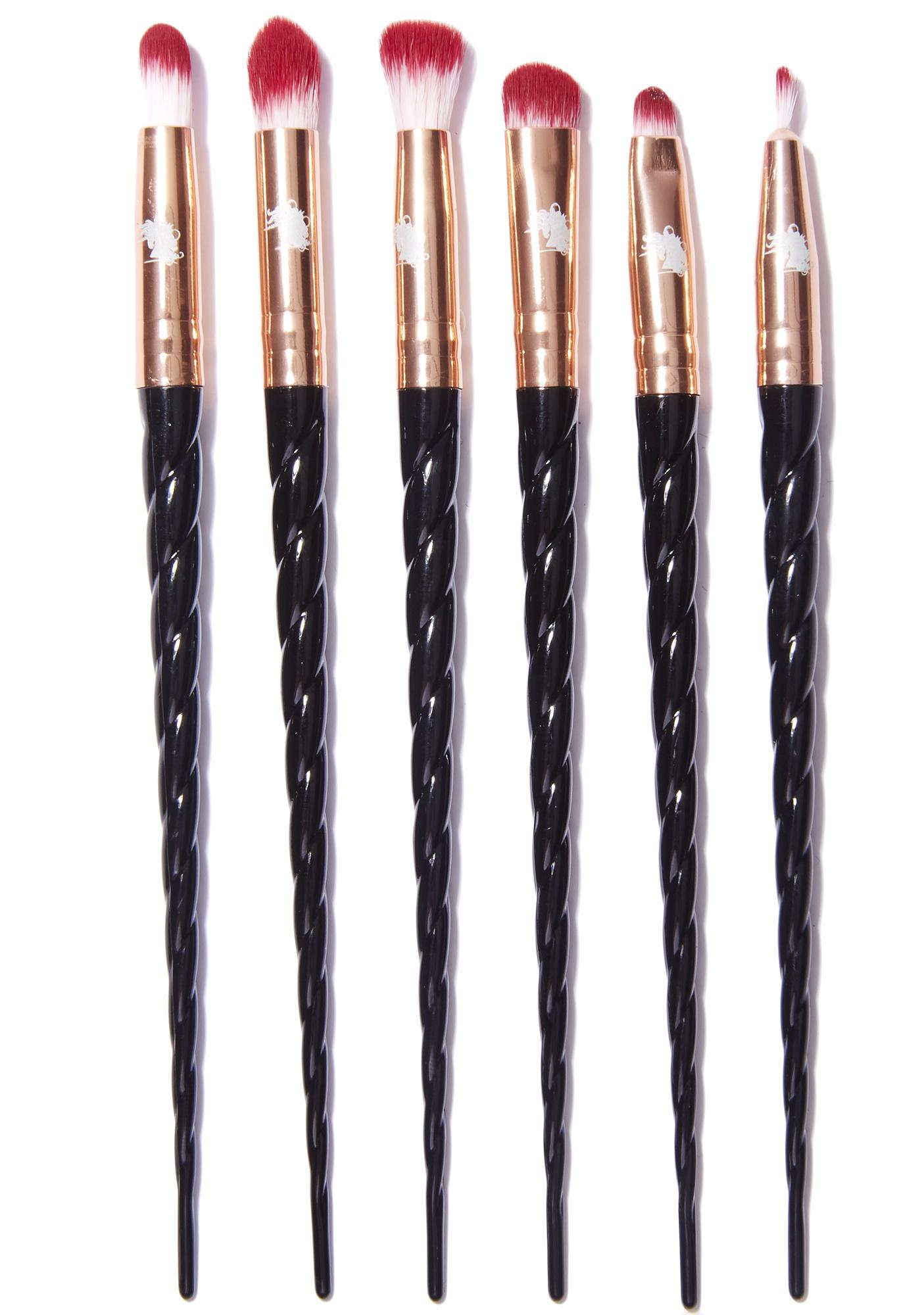 unicorn brush set. unicorn lashes black \u0026 rose gold brush set s