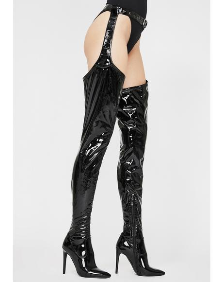 Moving On Thigh High Boots