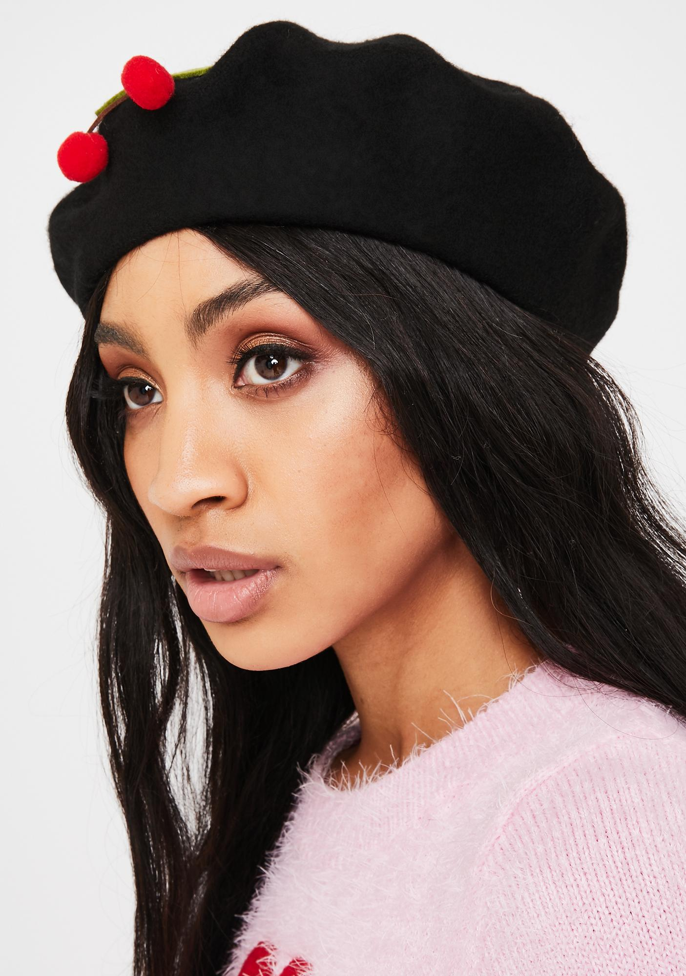 Midnight Tart Temptations Felt Beret