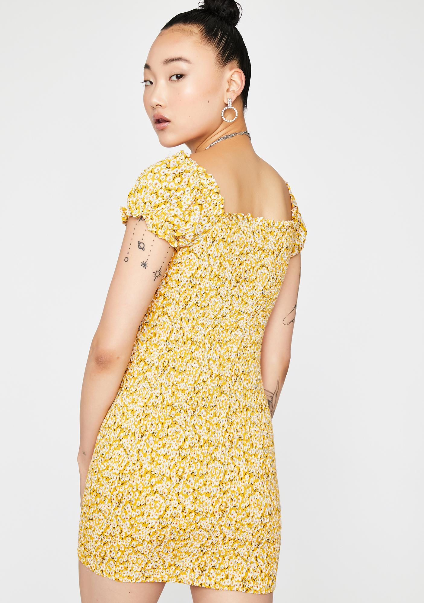 Sassy Sunbeam Floral Dress