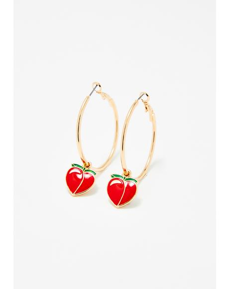 Juicy Gossip Peach Earrings