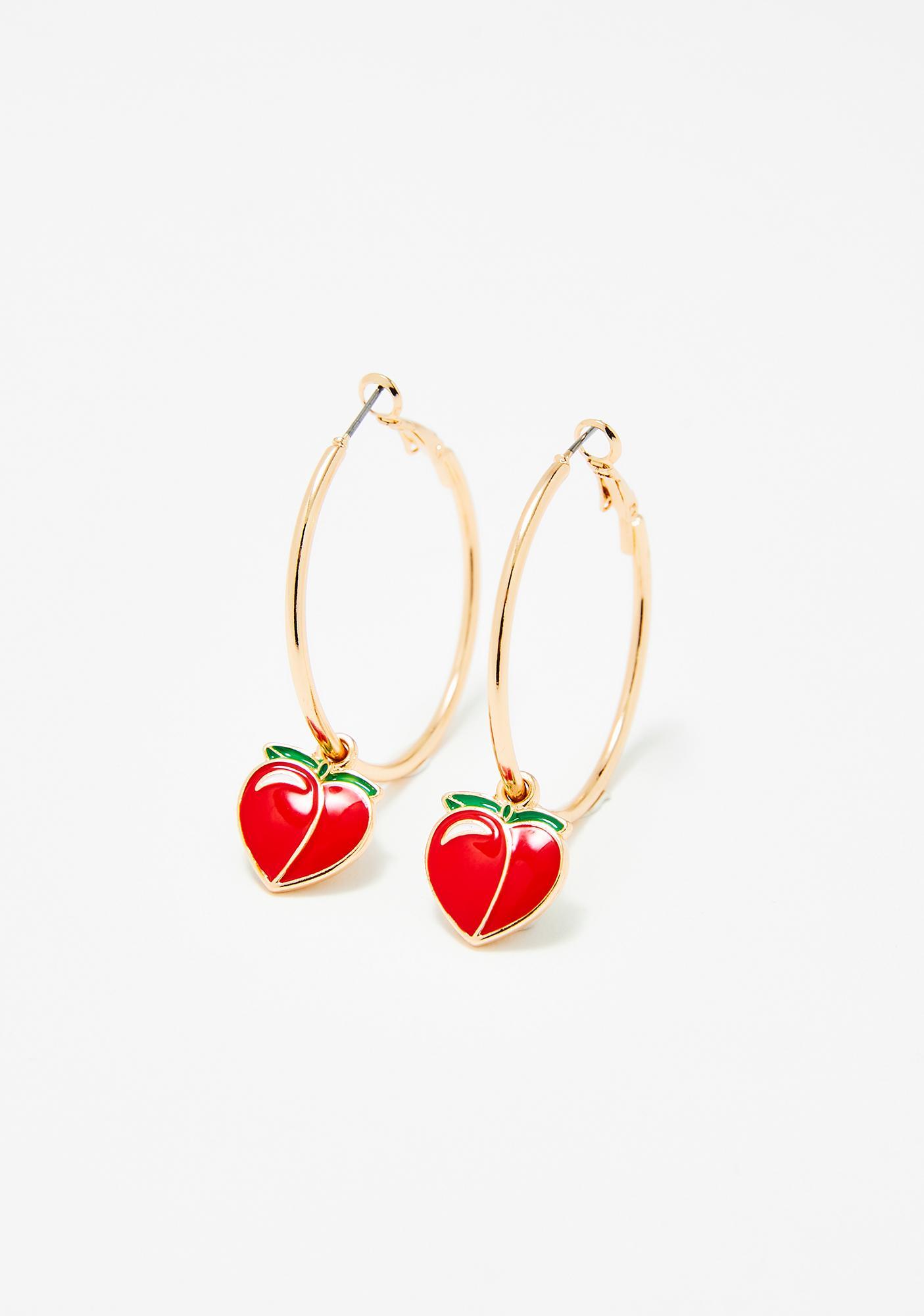 Juicy Gossip Peach Earrings