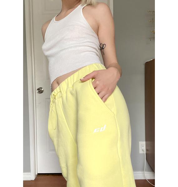 Criminal Damage Yellow Jogger Sweatpants