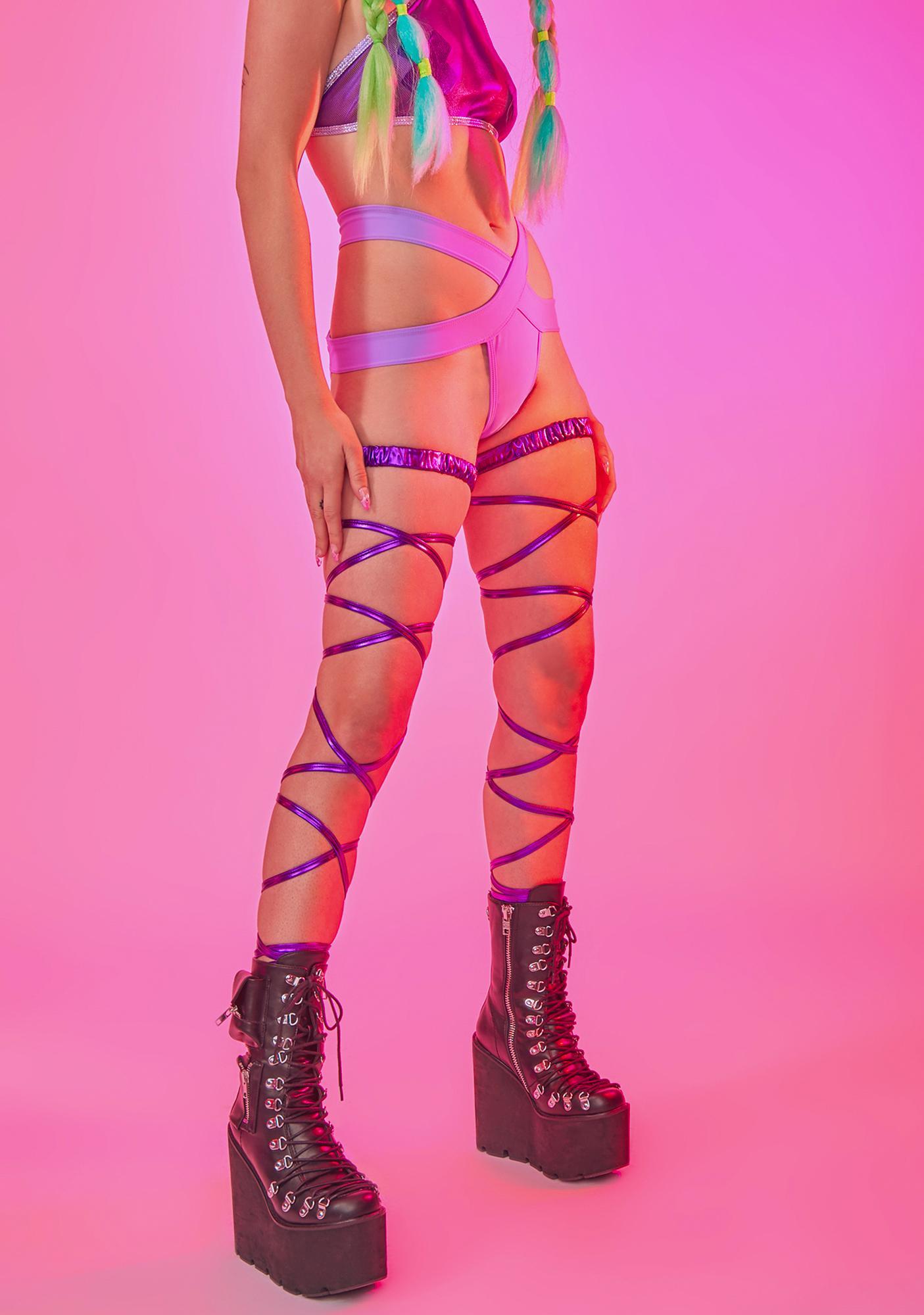 Dance Trance Metallic Leg Wraps