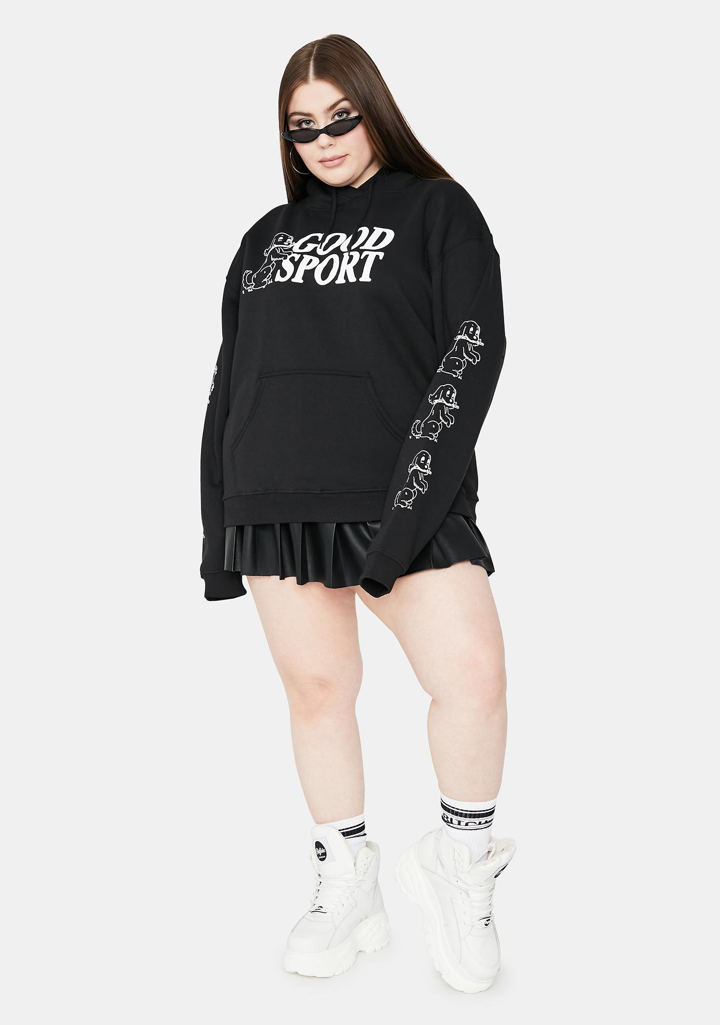 NEW GIRL ORDER Curve Bad Sport Graphic Hoodie