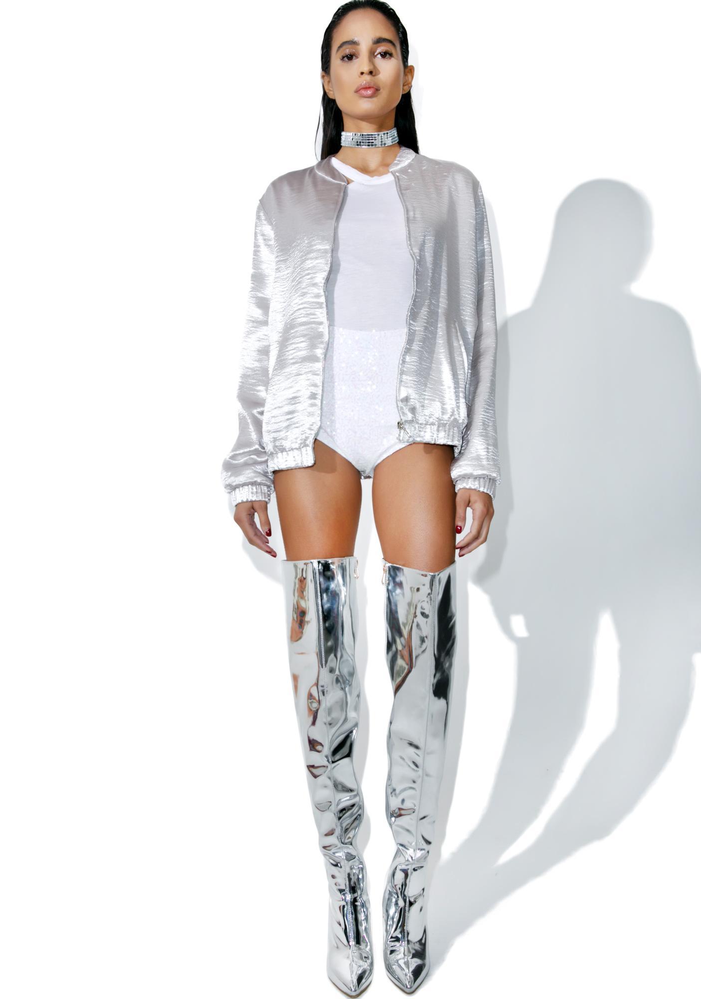 Silver Lining Bomber Jacket