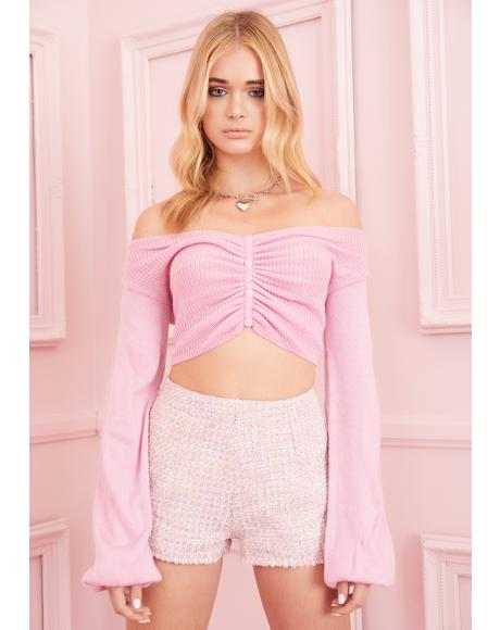 Just A Crush Cropped Sweater