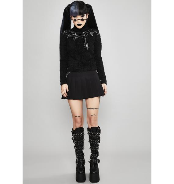 Widow Web Of Deceit Fuzzy Sweater