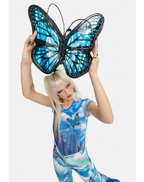 Float Like A Butterfly Iridescent Backpack