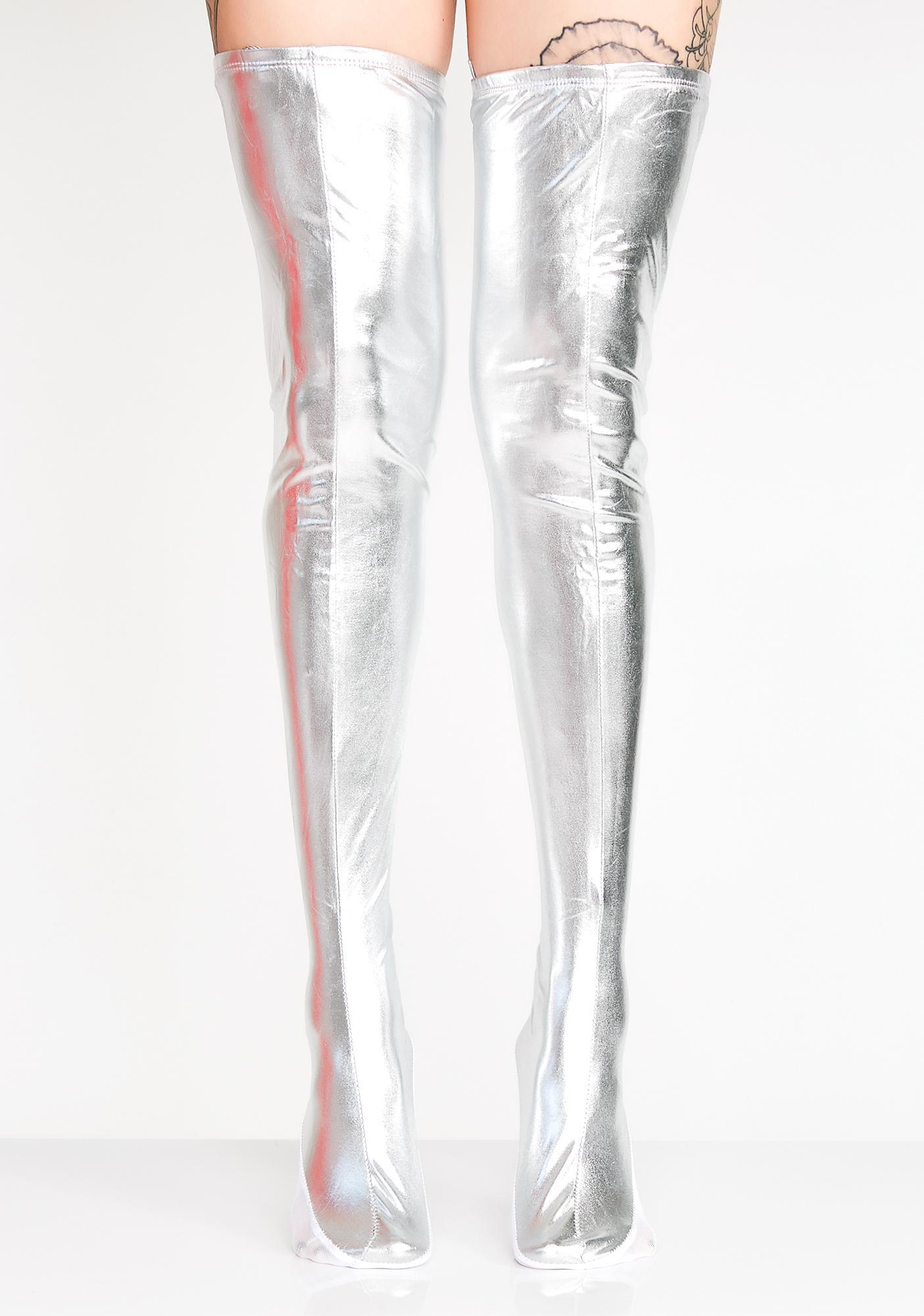 cb423ef1d38 Baddie Bot Lace-Up Thigh Highs