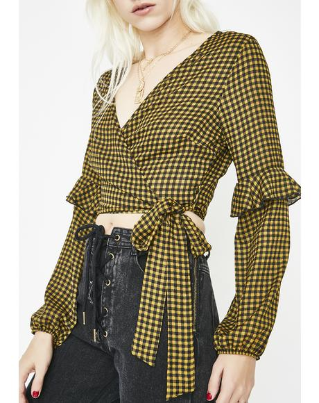 Bad News Blair Gingham Top
