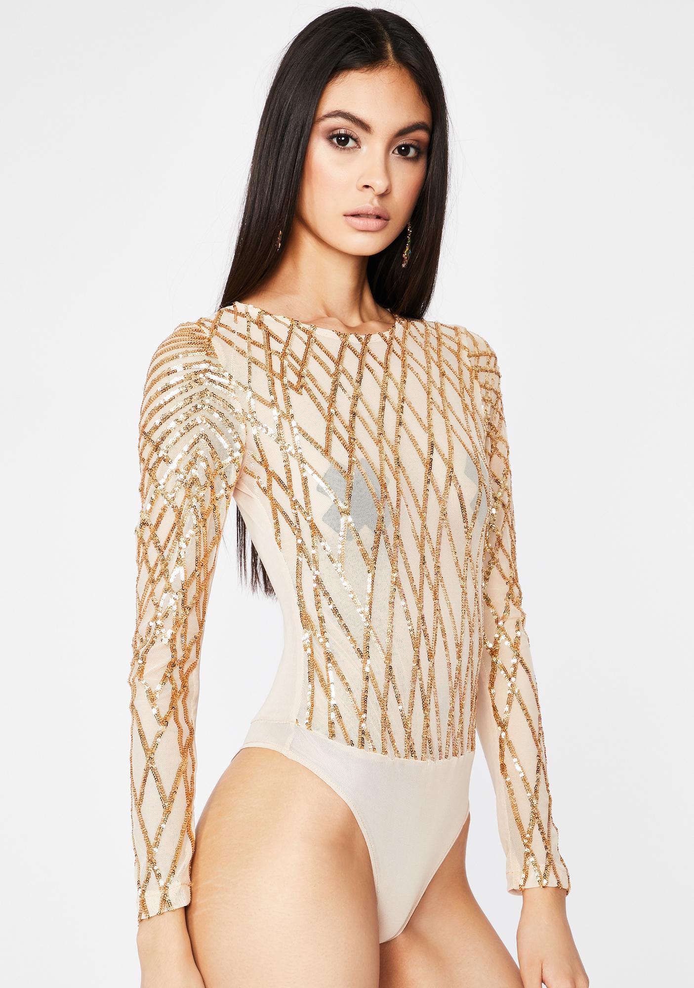 Gilded Complicated Crush Sequin Bodysuit
