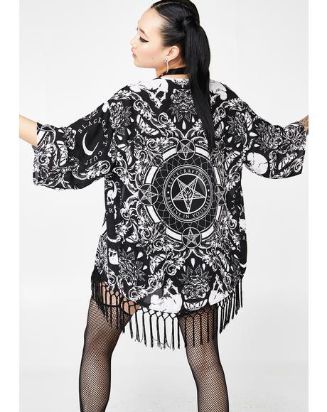 Baroque Print Kimono