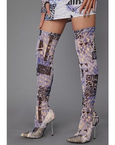 QR Cutie Thigh High Boots