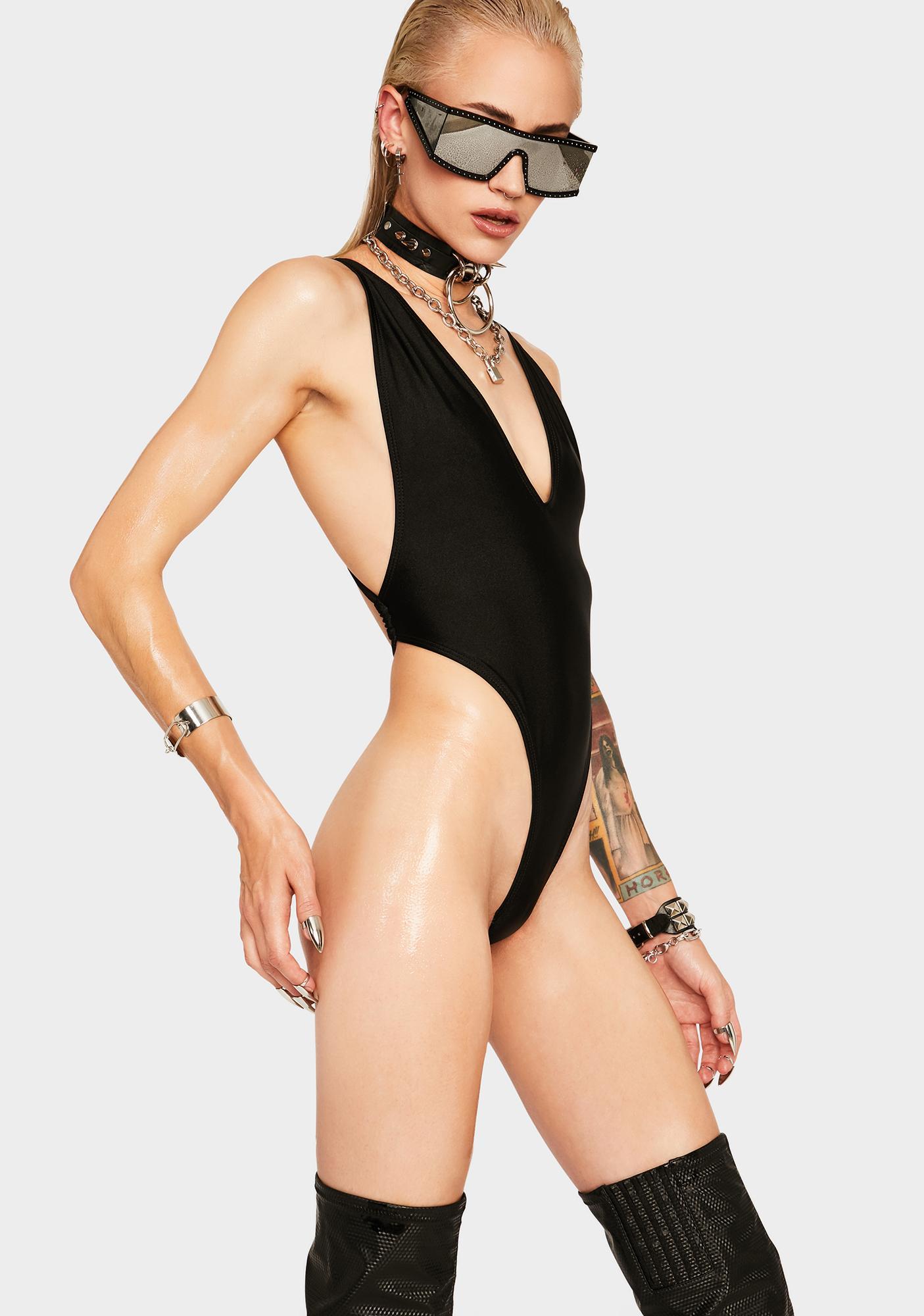 RIS-K Black Paradise One Piece Swimsuit