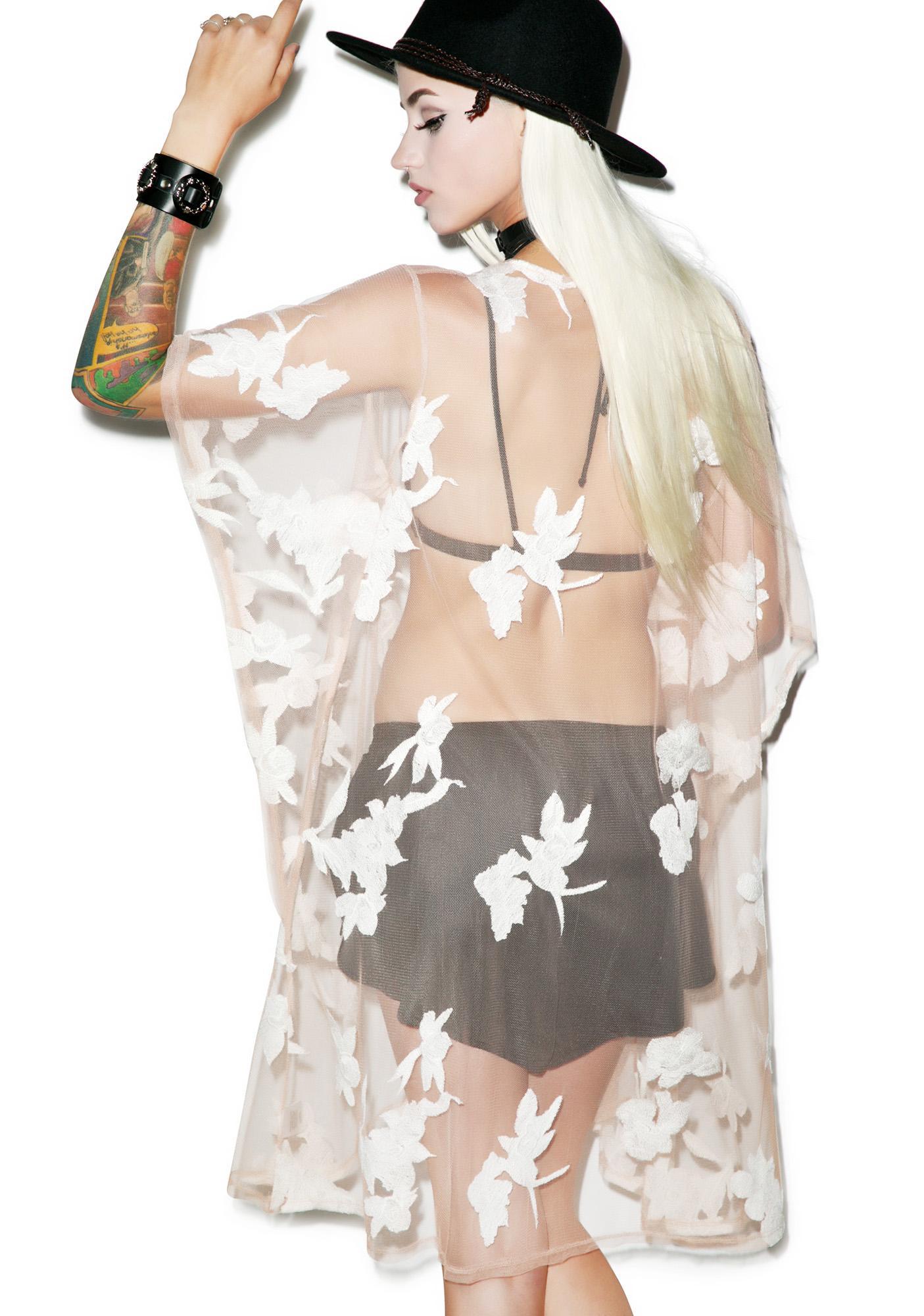 For Love & Lemons Orchid Kimono