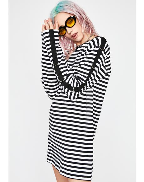 Holy Mass Chaos Striped Top