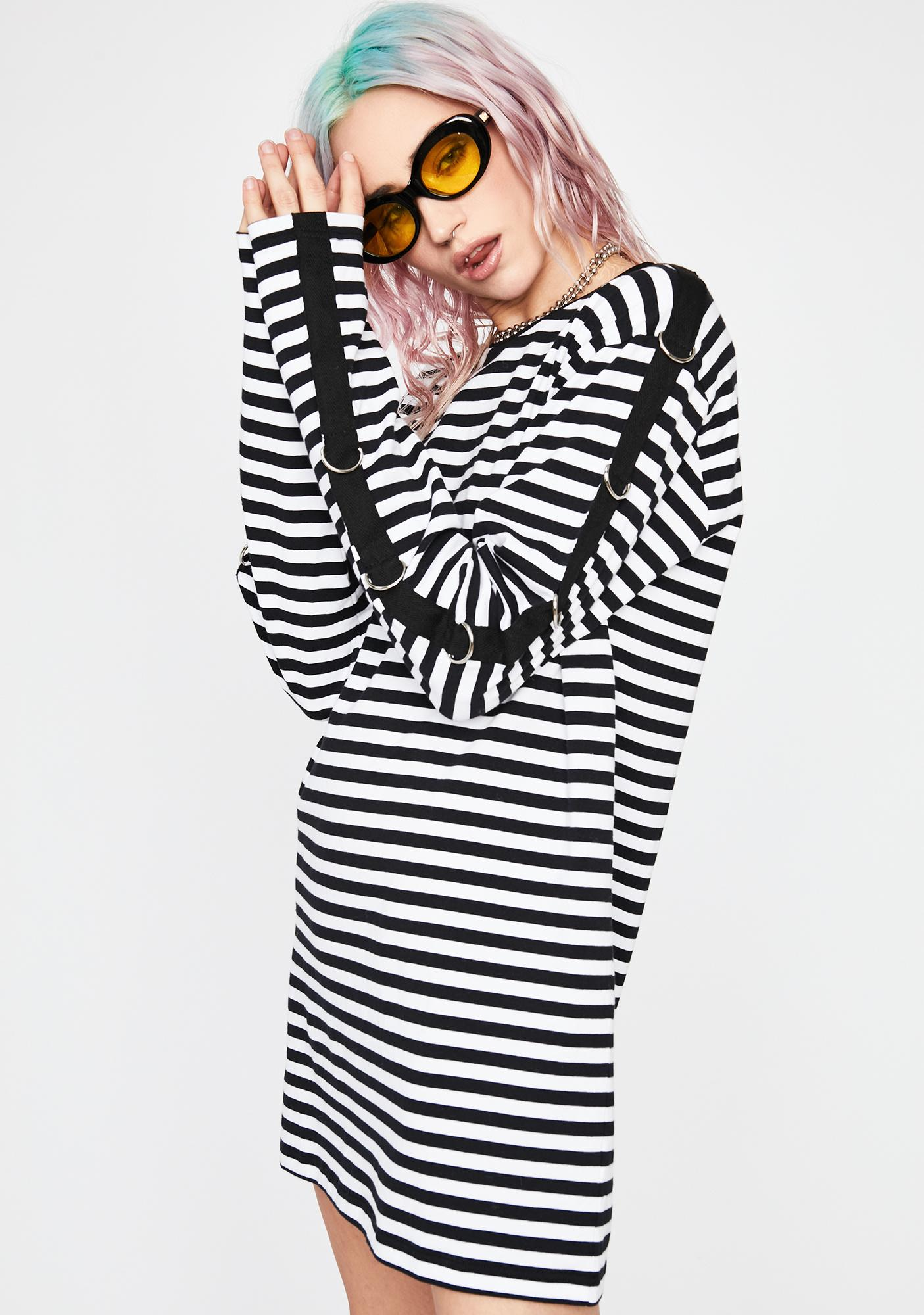 Current Mood Holy Mass Chaos Striped Top