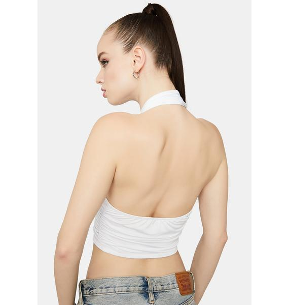 Ivory Party Starter Wrap Halter Top
