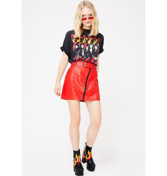 Warning Signal Mini Skirt