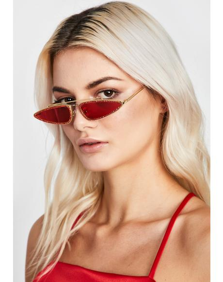 Fire Resting Bish Face Tiny Sunglasses
