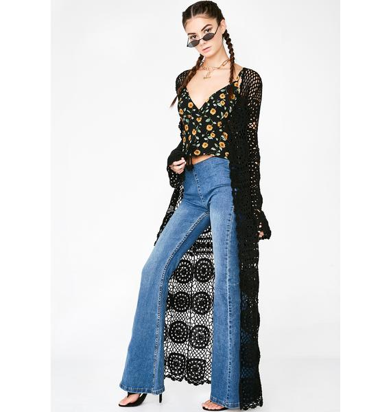 Current Mood Wild Child Crochet Duster