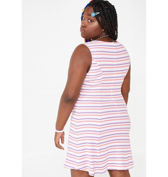 dELiA*s by Dolls Kill Ugh Get A Clue Striped Dress