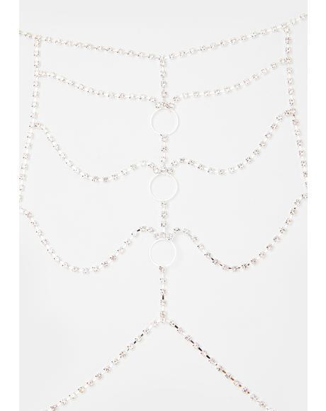 Opulent Desire Rhinestone Body Chain