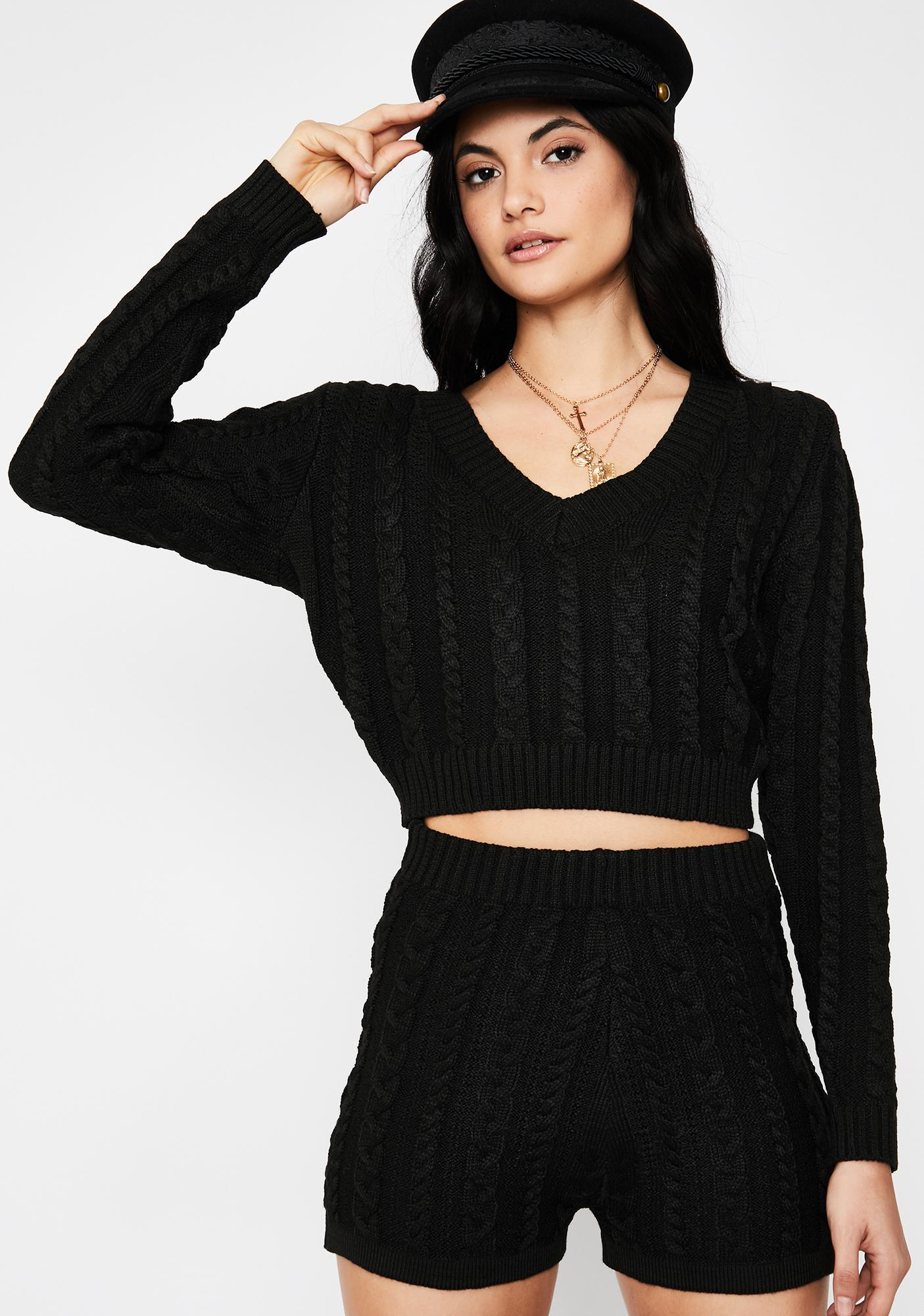 Tragic Love Sparkle Sweater Set