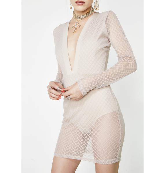Right Through Me Mesh Dress