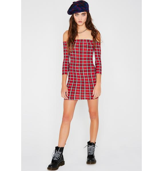 High School Sweetheart Plaid Dress