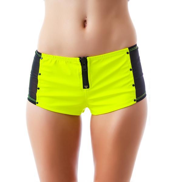 Lip Service Look At Me Now PVC Hot Shorts