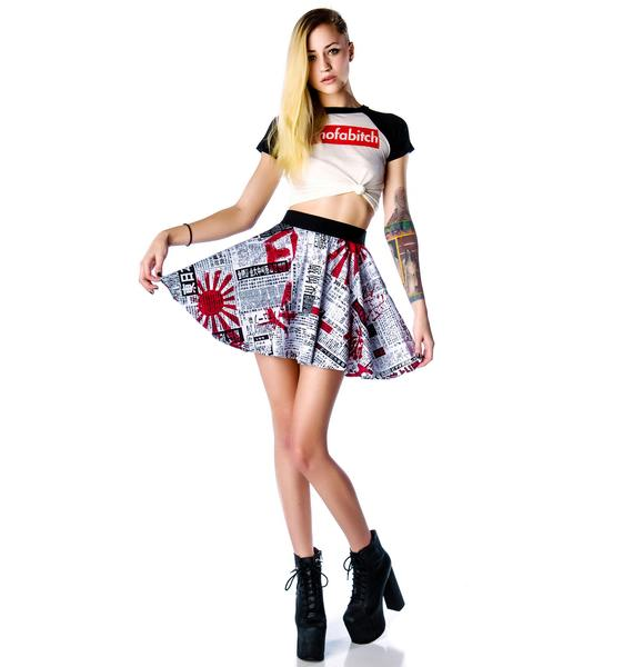 Lip Service Japanese Printed Circle Mini Skirt