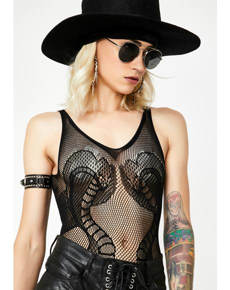 Anacondas Only Sheer Bodysuit