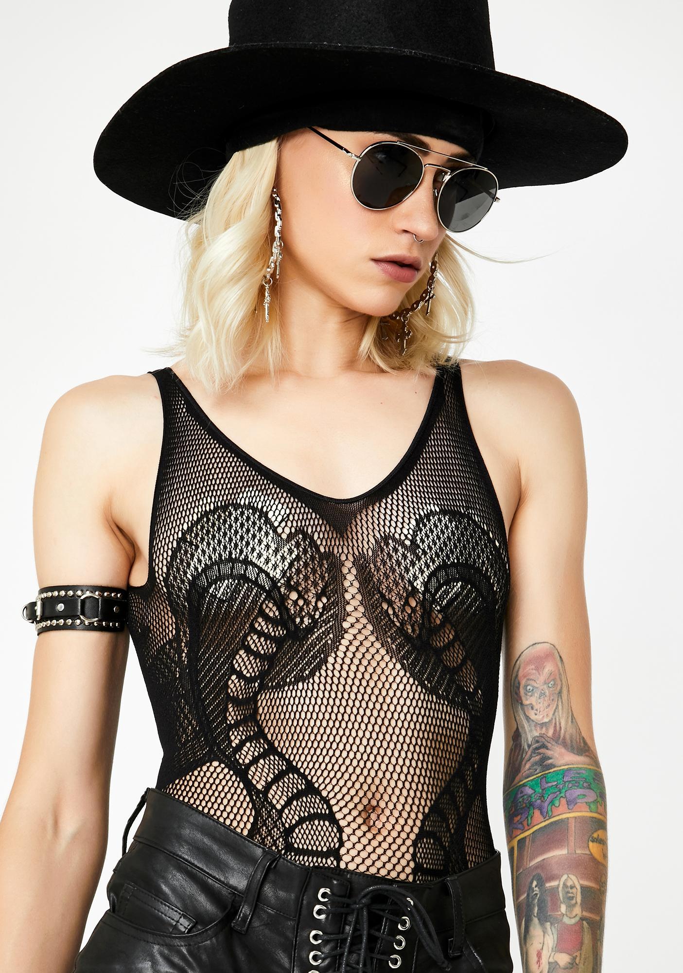 Anacondas Only Sheer Bodysuit