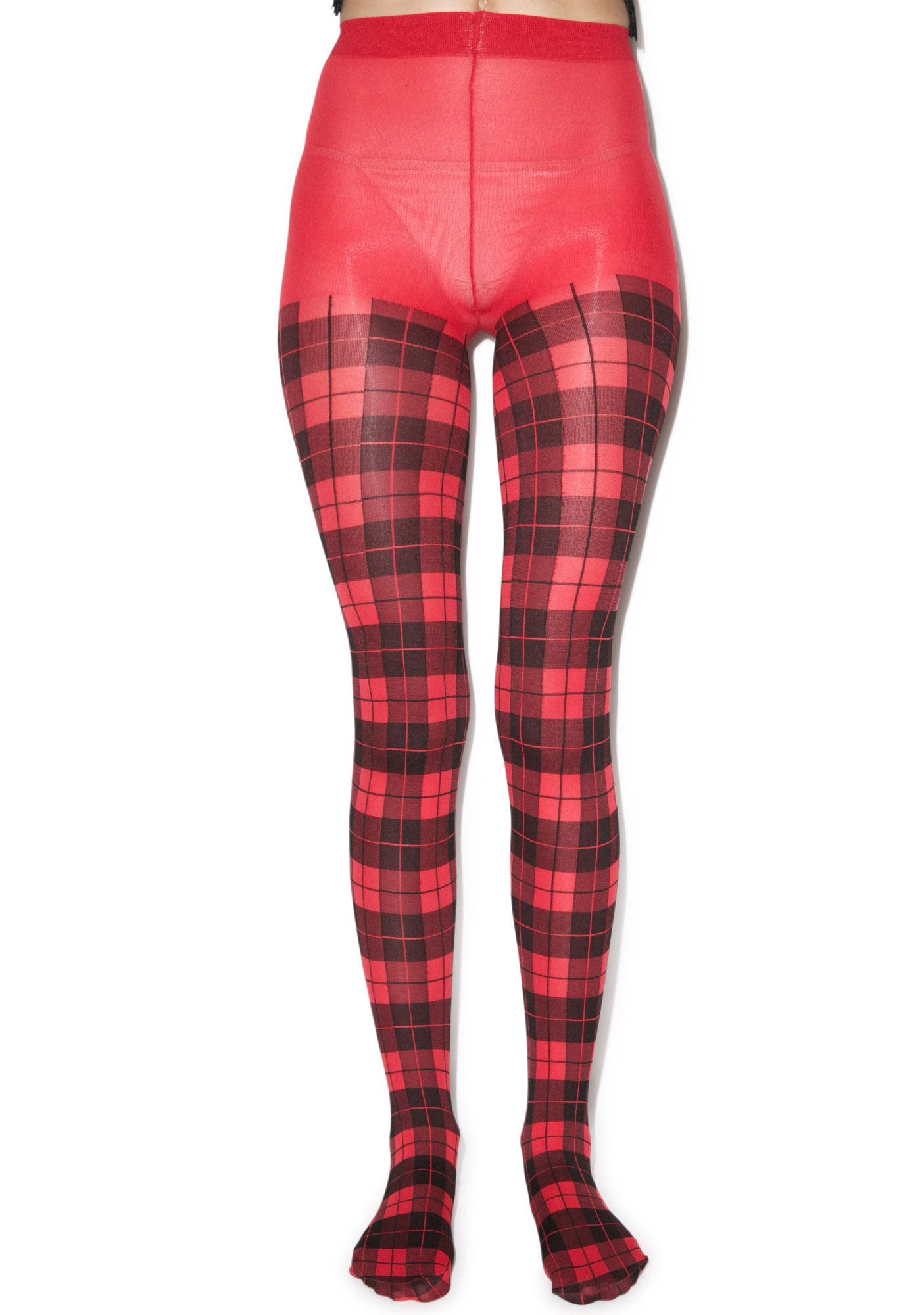 Pretty Polly Tartan Tights