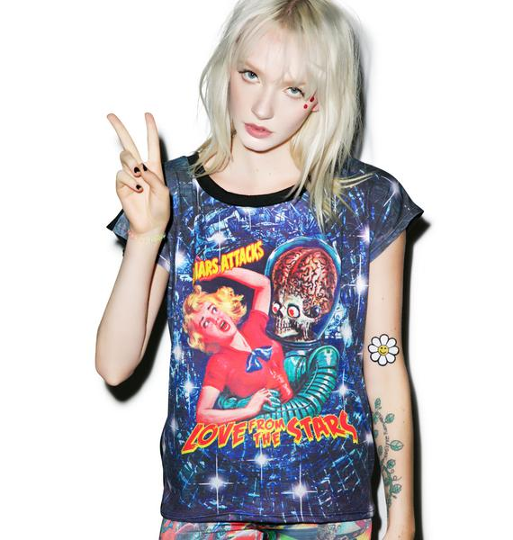 Kreepsville 666 Mars Attacks Love From The Stars 80s Tee
