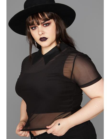 Grave Sheer Insanity Mesh Top