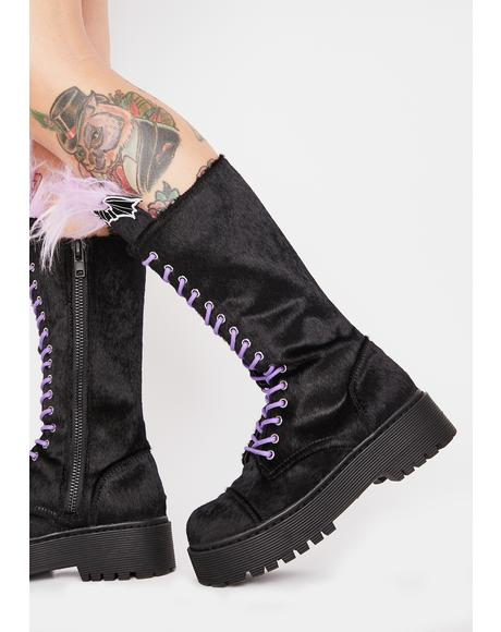 Bride Of Frankenstein Velvet Boots