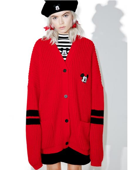 X Disney Mickey Mouse College Cardigan