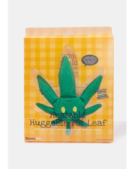 Heatable Huggable Pot Leaf