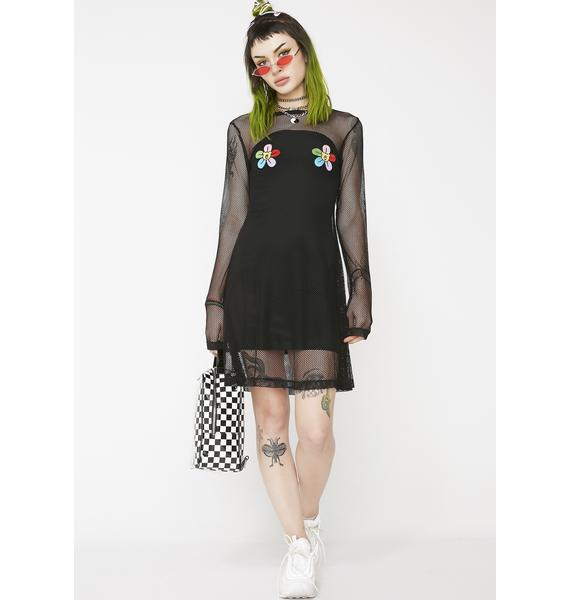Lazy Oaf Bear All Flowers Dress