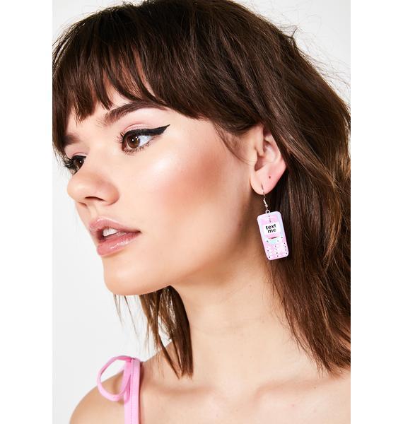 Text Me Cellphone Earrings