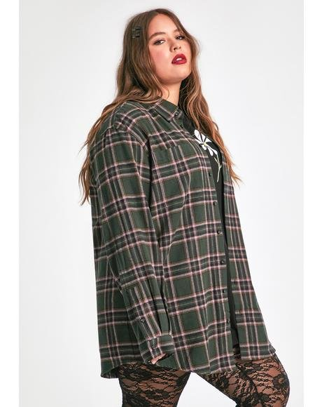 Just Dreaming My Dreams Flannel Shirt