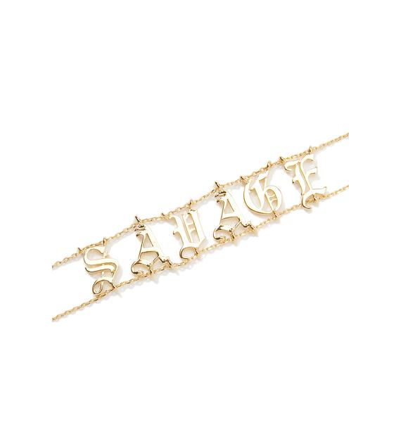 Savage Girl Gold Choker