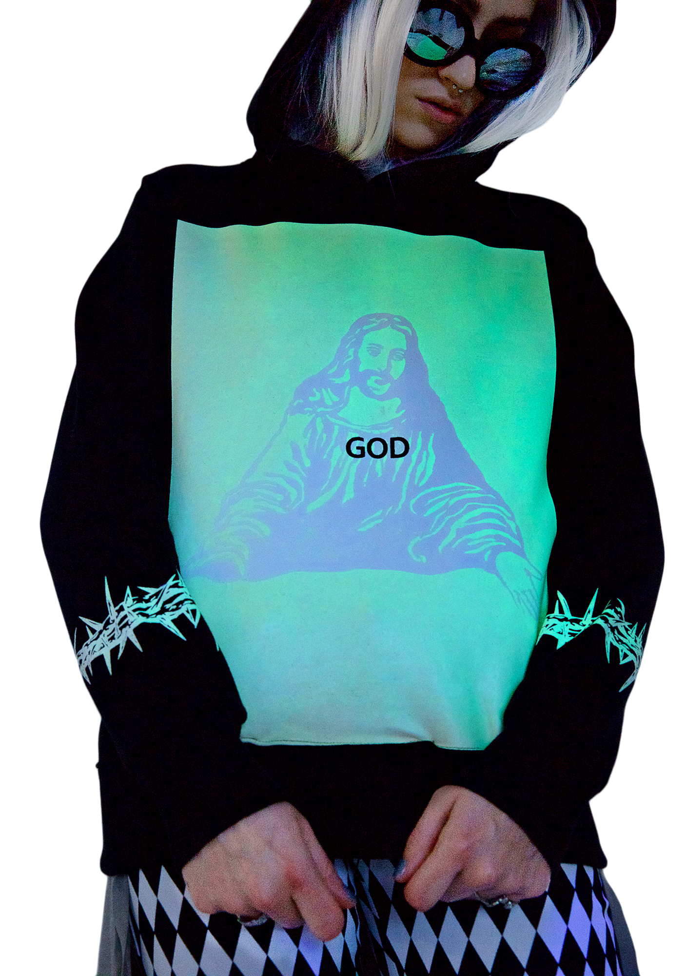 Outerspace Crucified Sweater