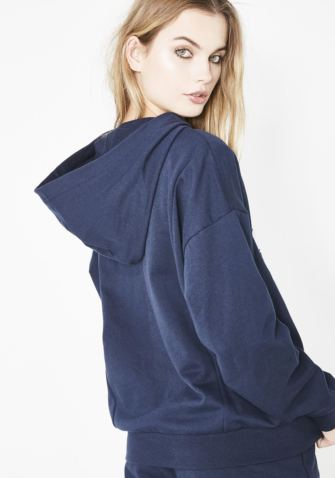 JUICY COUTURE Oversize Collegiate Juicy Hooded Pullover