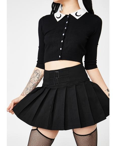 Show Some Restraint Buckle Skirt