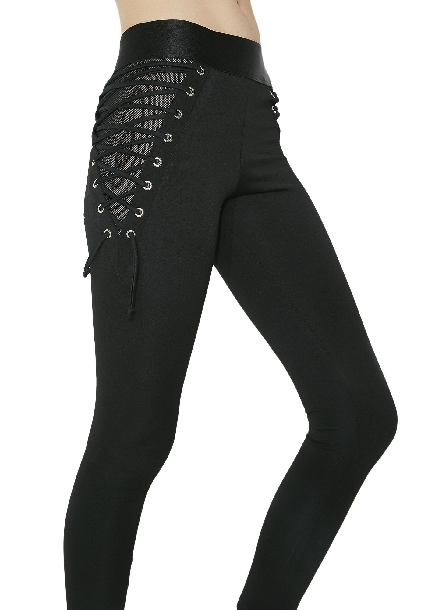 Agile Mobile Hostile Lace-Up Leggings