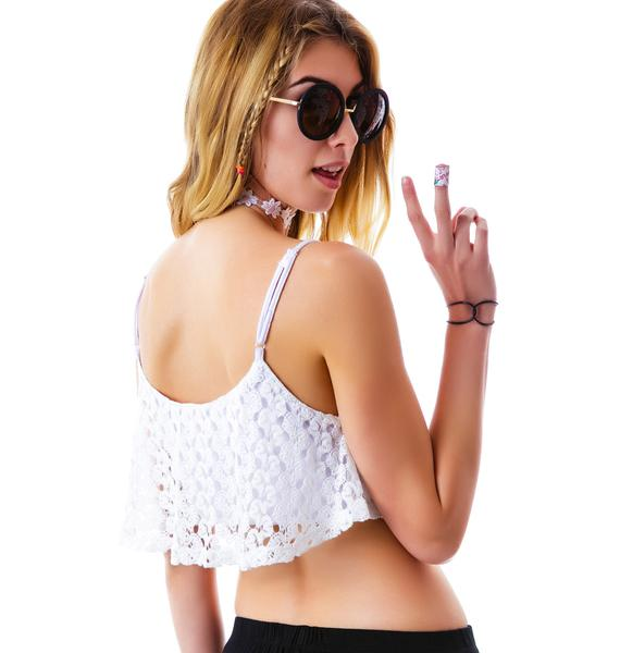 Cabo Lace Crop Tank